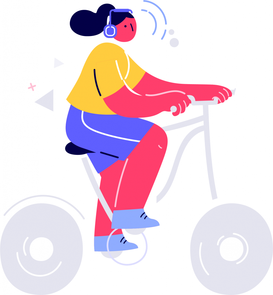 woman cycling from wwdc 2020