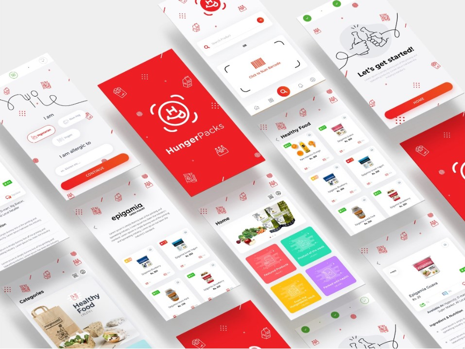 ui ux design idea for app screens
