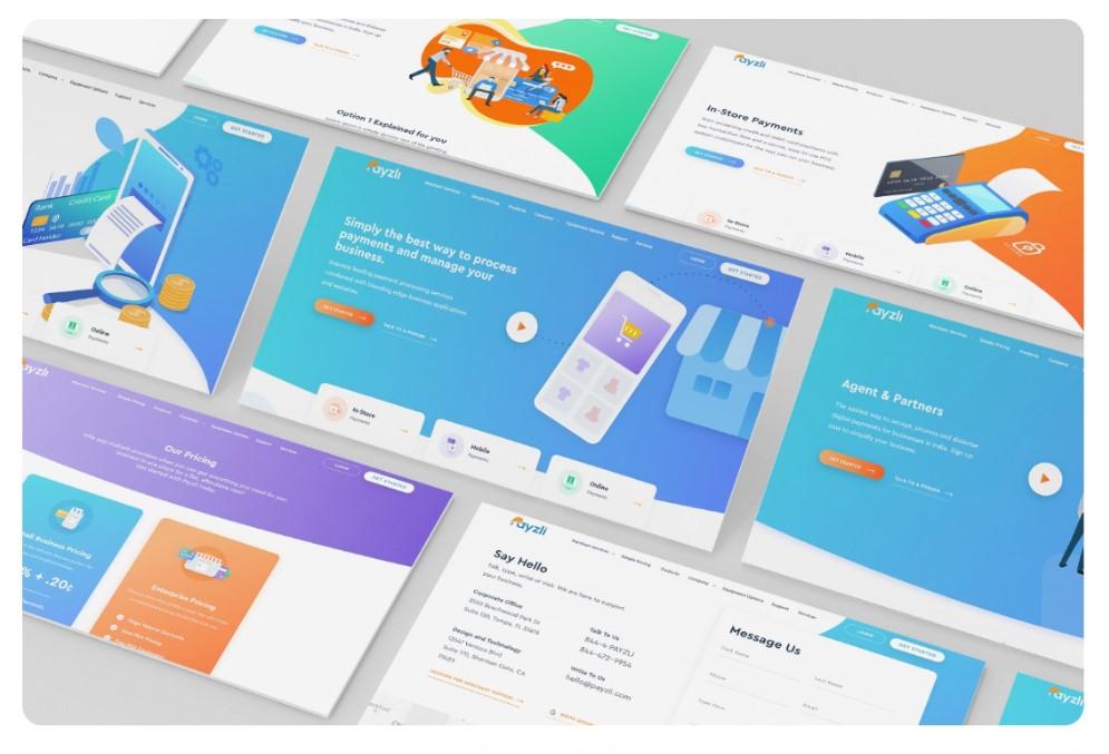 UI UX Design idea for website screen