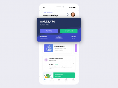 investment app ui ux design idea designed by Leo9 Studio