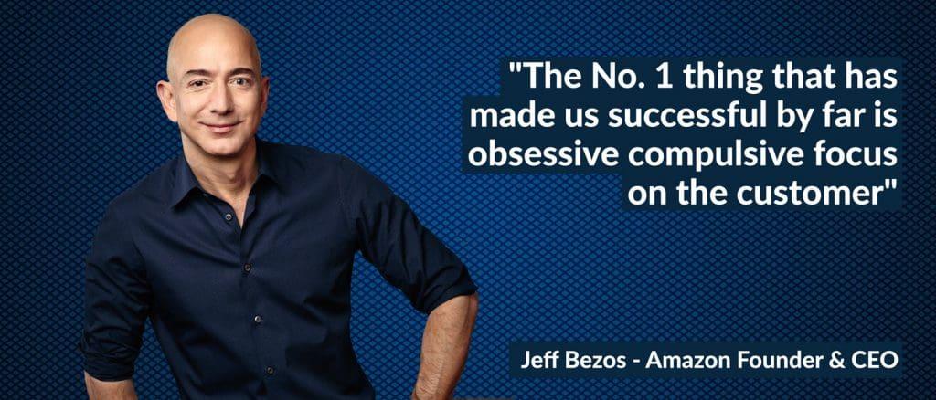 jeff bezos quote on customer experience regarding neuromarketing.