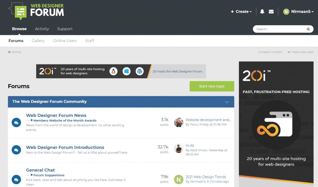 web designer forum to find out UI UX Design Ideas